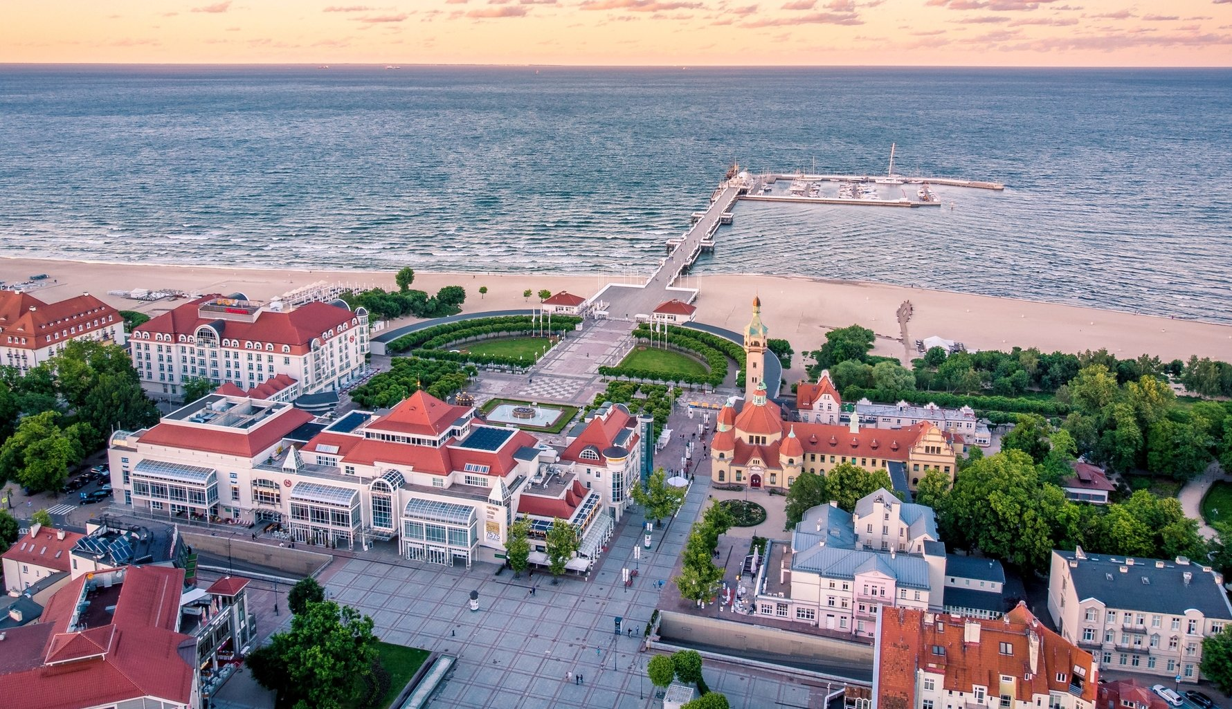 View of Sopot's Foreshore, Grand Spa and Pier