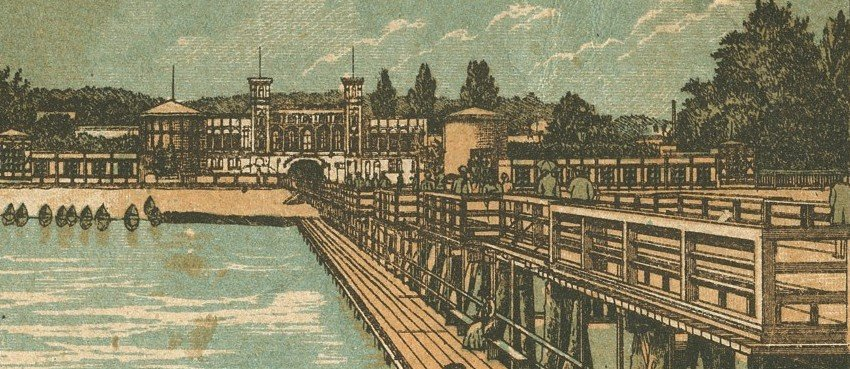 View of Spa House from Sopot Pier, 1891