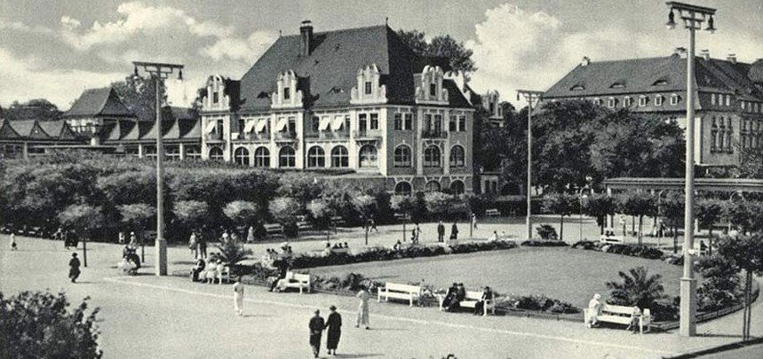 Part of the Grand Spa Complex in 1942