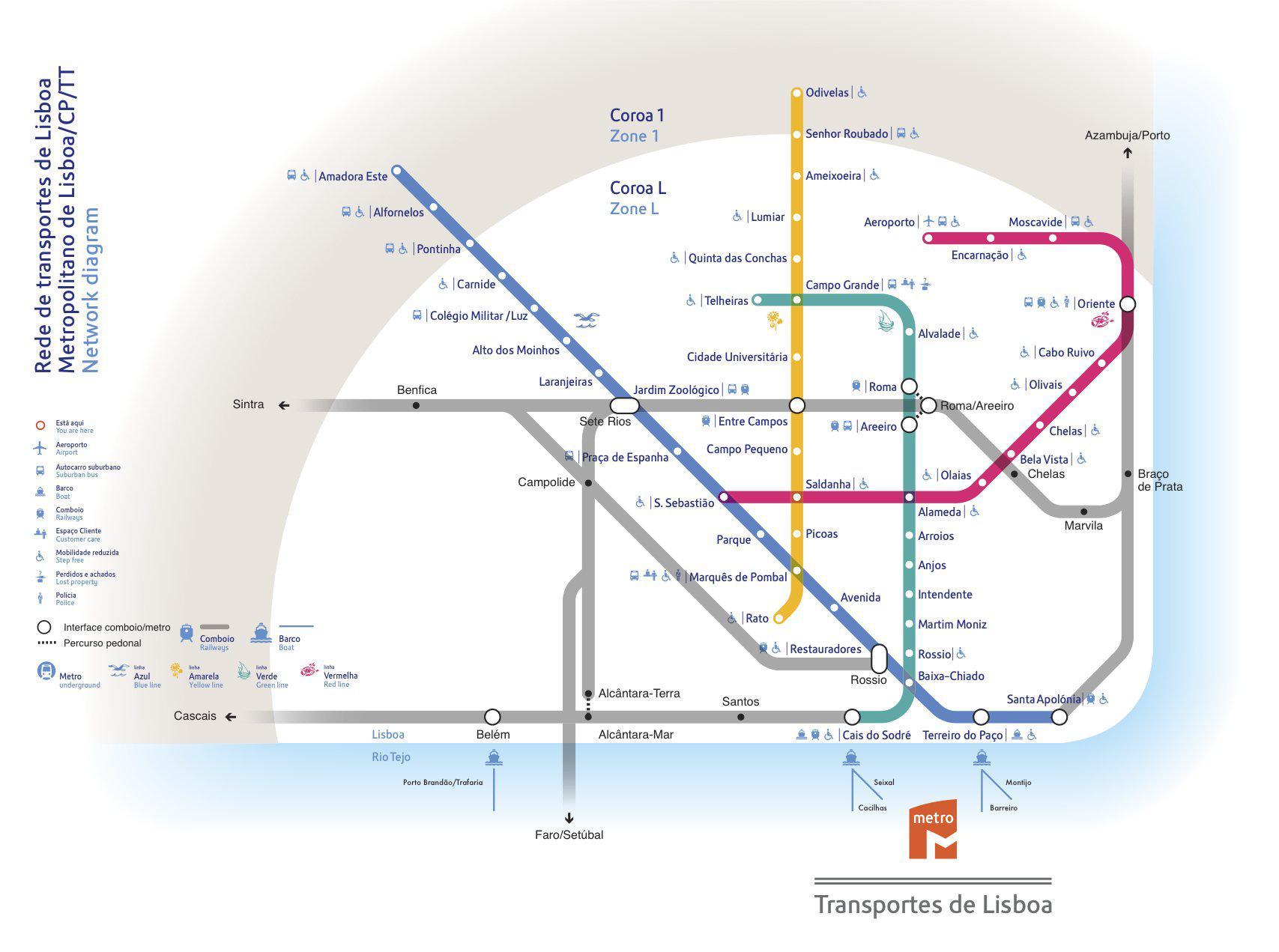 Lisbon Metro Map