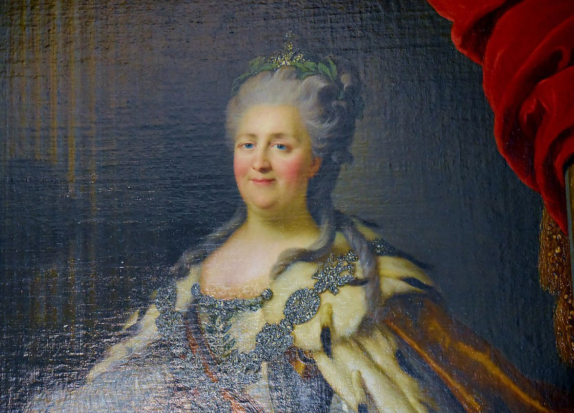 Famous Russian Women, Tsarina Catherine the Great at the Hermitage in St Petersburg © CC/ Richard Mortel