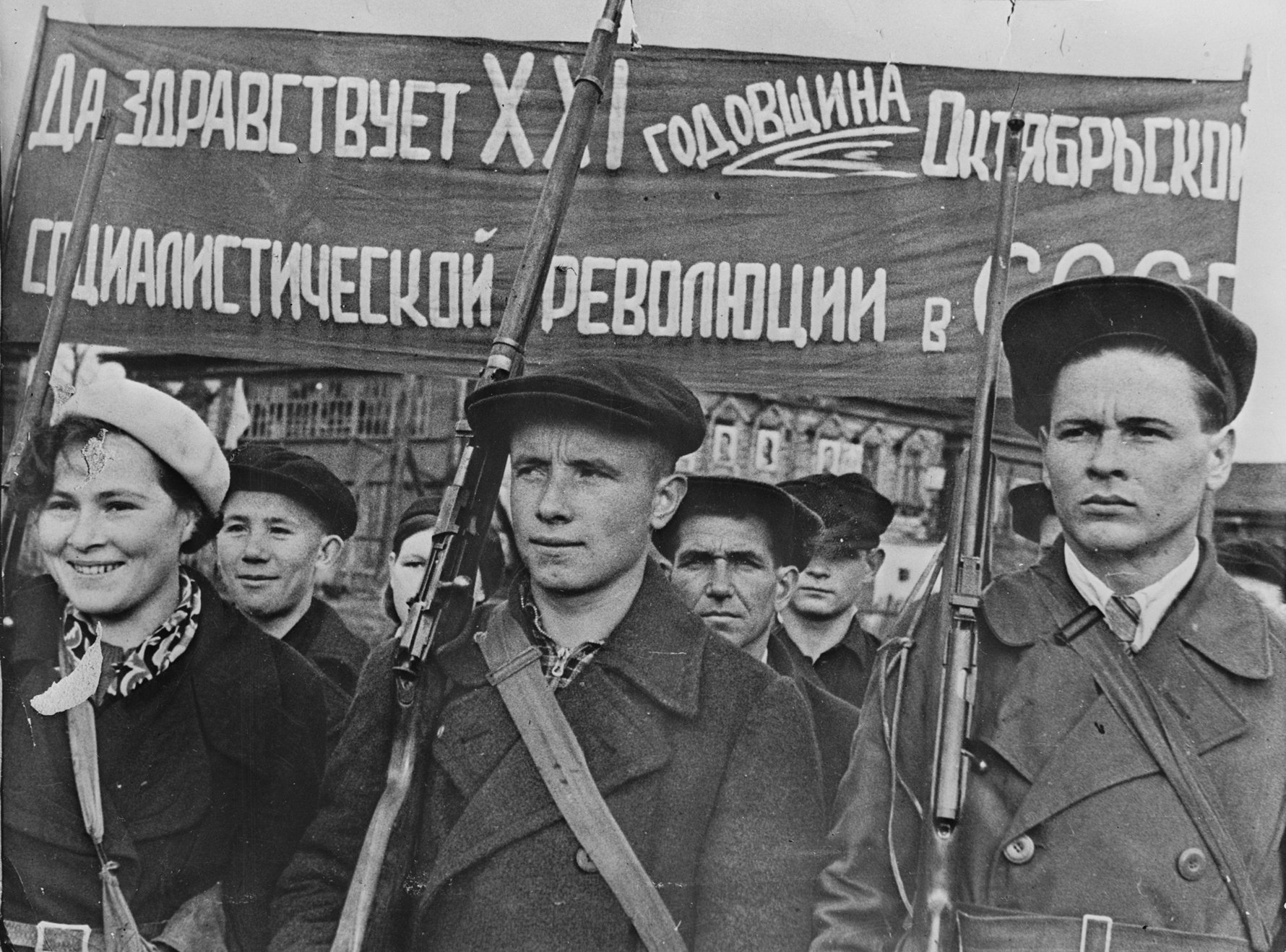 Russian Revolution Attractions in Moscow-Ussr_Day_of_the_October_Revolution