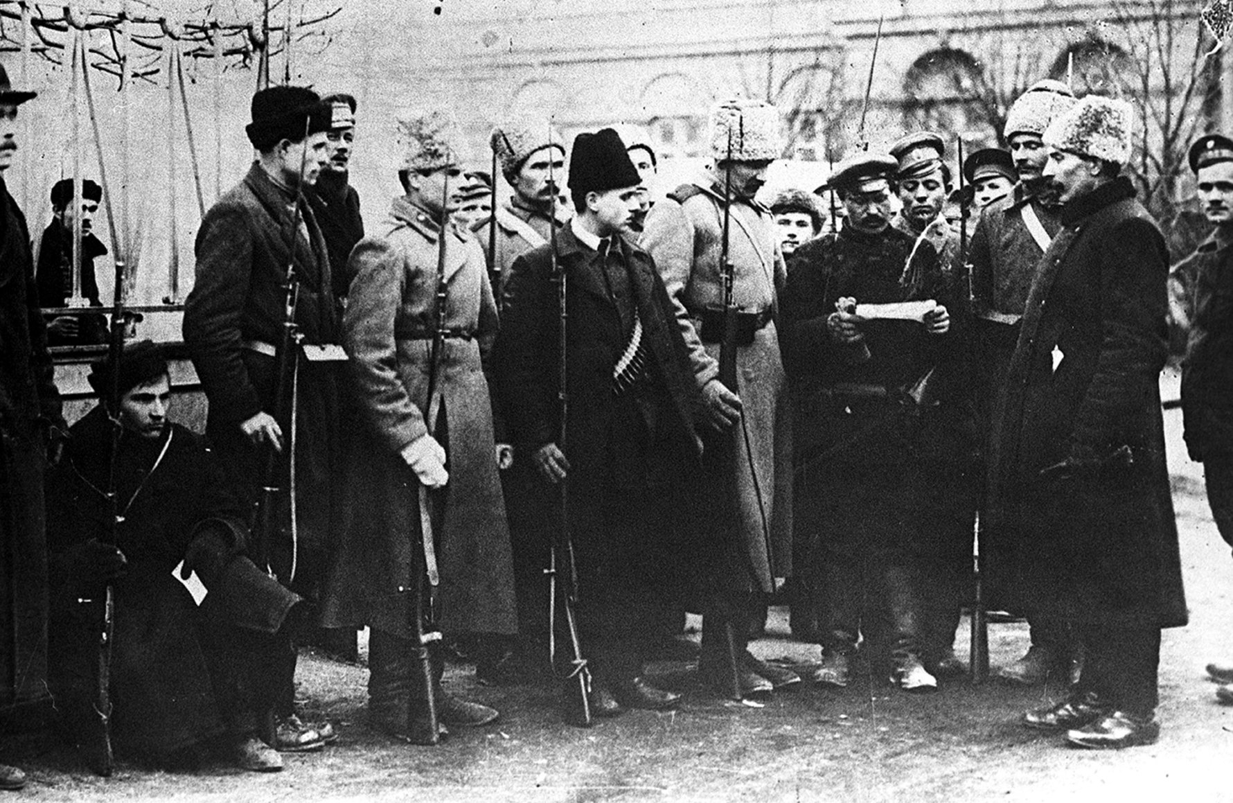 Russian Revolution Attractions in Moscow - Red Guard on Patrol 1917