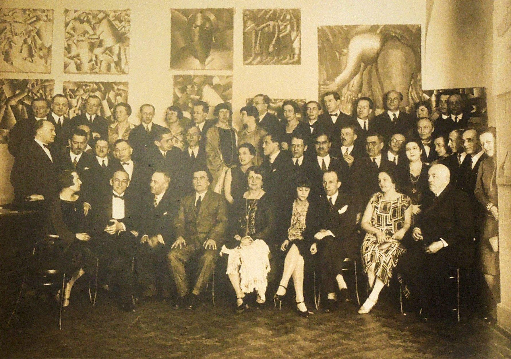 Russian Art - Kazimir Malevich's exhibition, Polish Art Club, Hotel Polonia, Warsaw