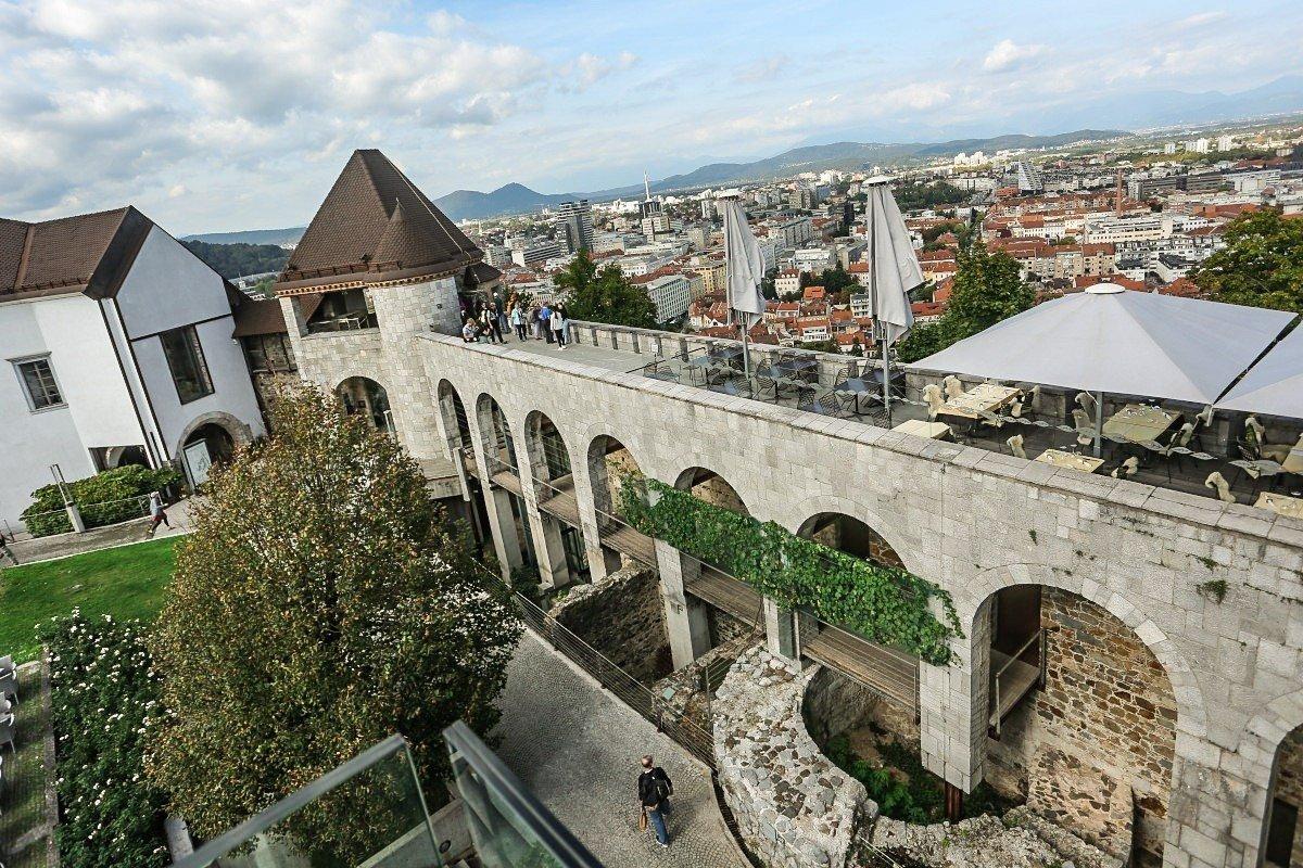 Razgledna ploščad / Foto: Ljubljanski Grad