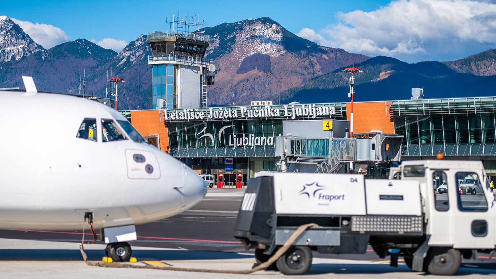 Flying from Ljubljana to Bled - Ljubljana Airport