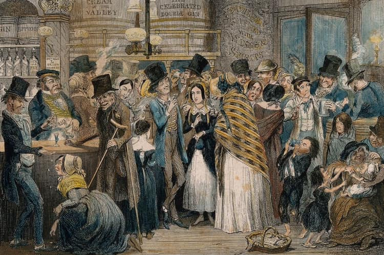 Gin party, 18th Century London / Gin & Brin Festival