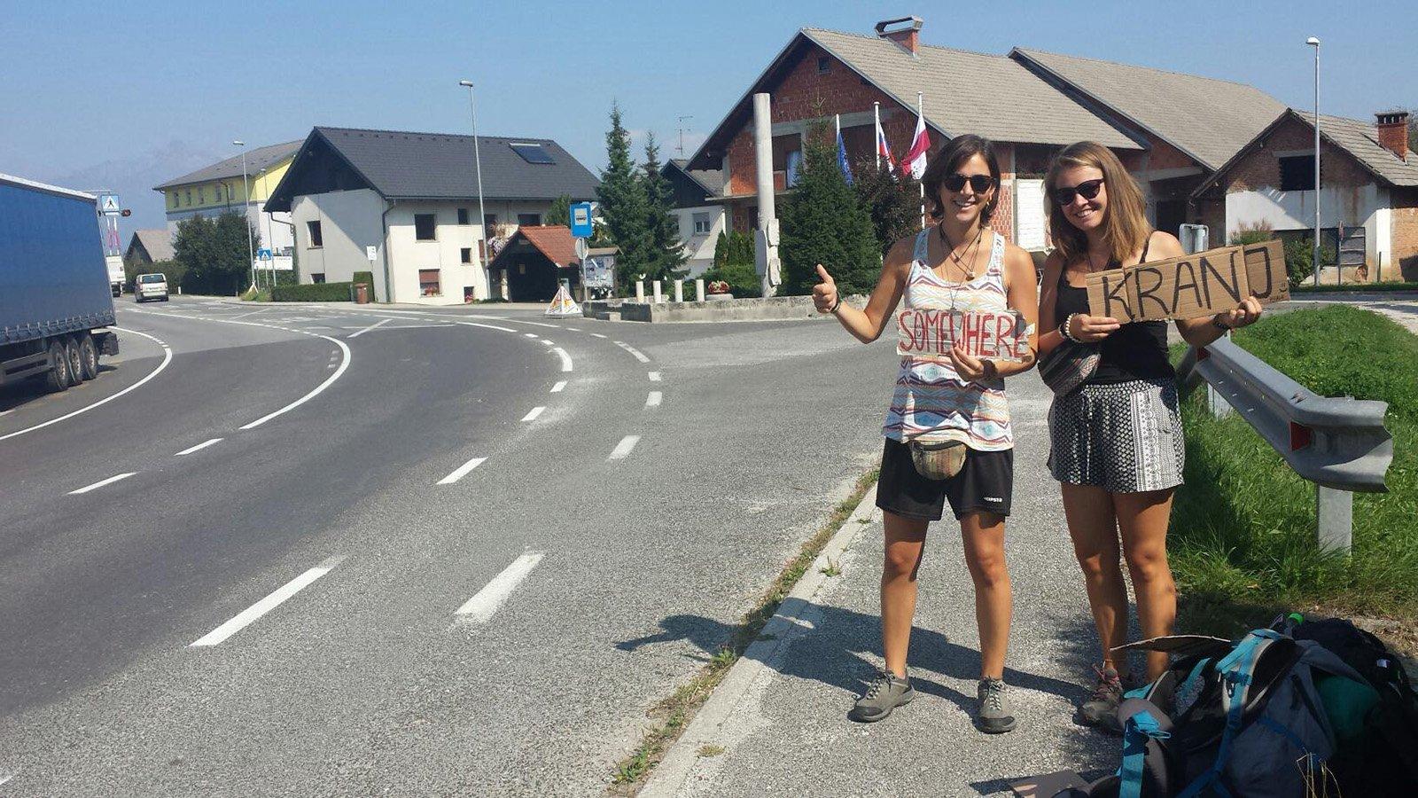 Hitchhiking from Ljubljana to Bled © CC Mravlja Matjaz.jpg