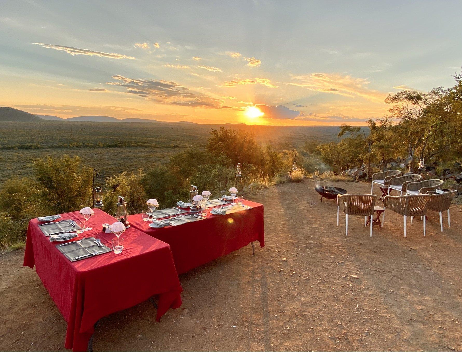 Dinner in Madikwe