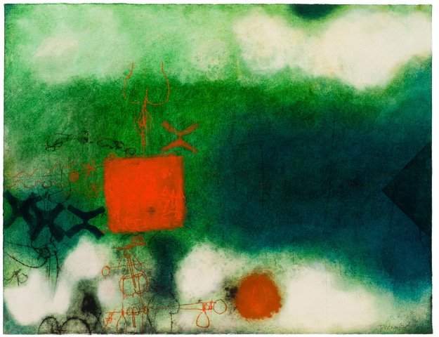 Douglas Portway; Abstract with Green, Blue and Red