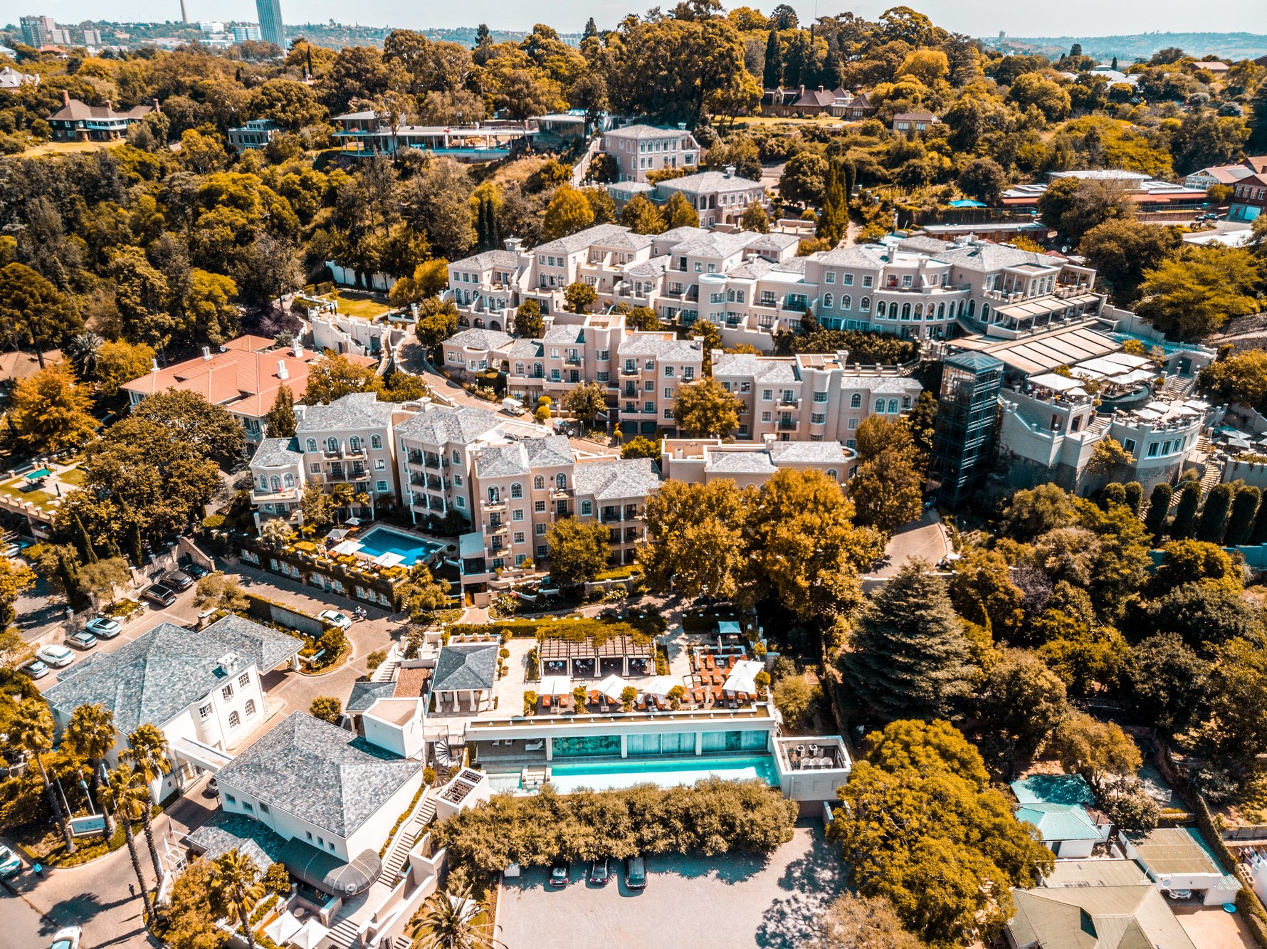 Aerial view of Four Seasons The Westcliff