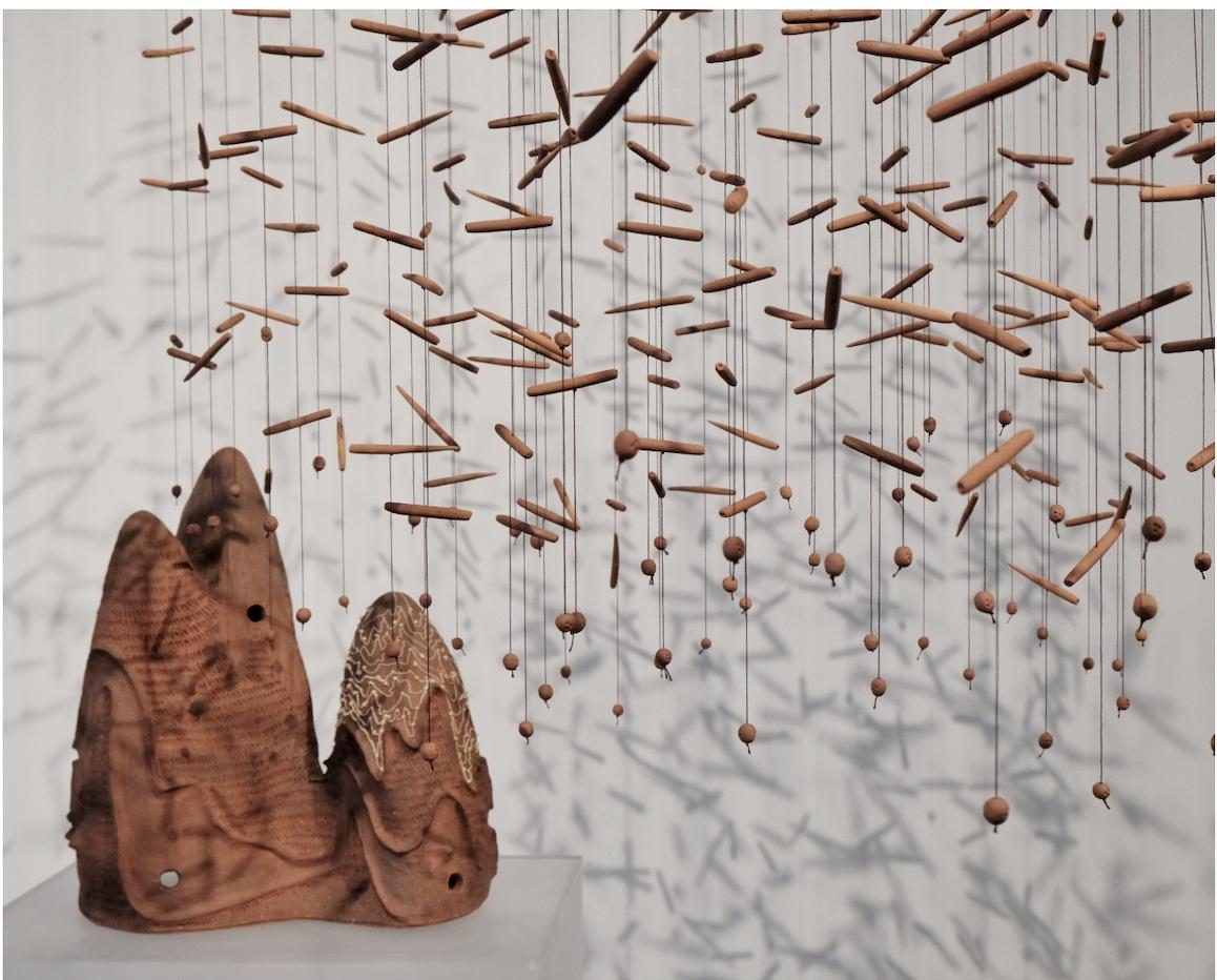 Nindya Buckowar'sReef Fragmented clay installation