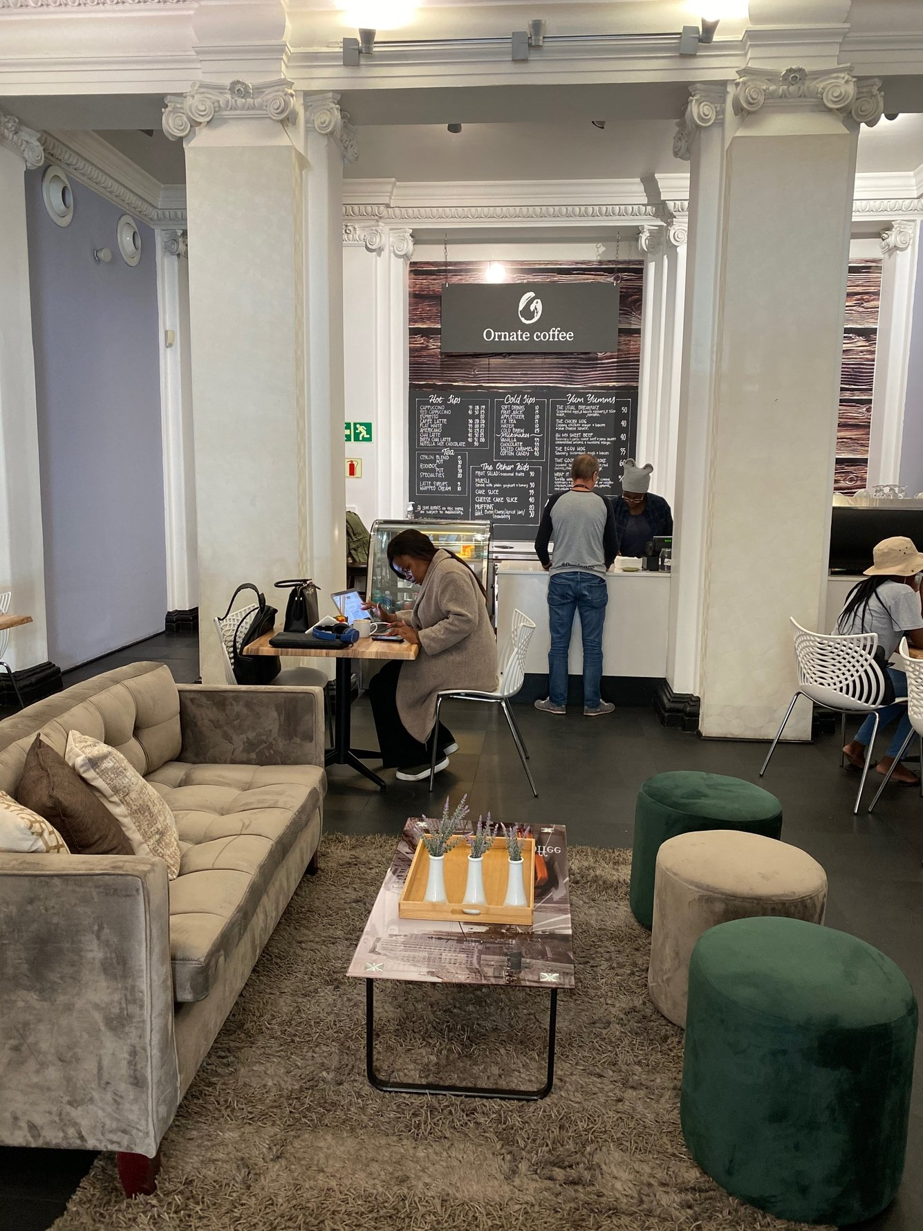 Inside Ornate Cafe