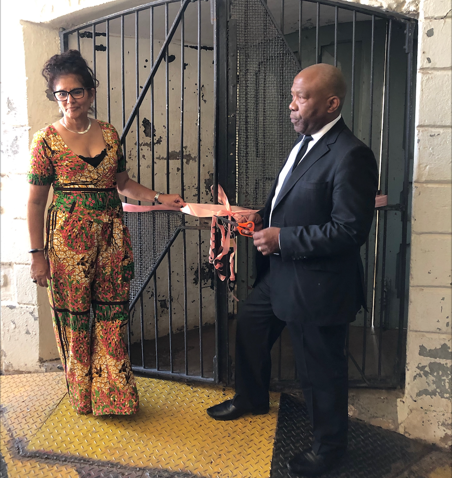 The official opening of The Old Fort exhibition by Constitution Hill CEO Dawn Robertson and Board Chair Prince Mafojane