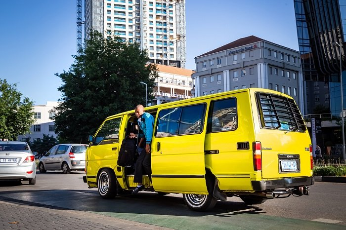 Yellow Minibus taxi. photo by Rich T