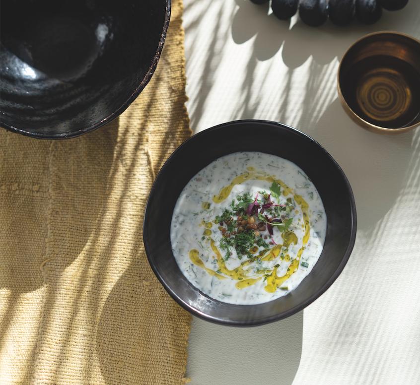 tashas Inspired - Cold Yoghurt soup recipe