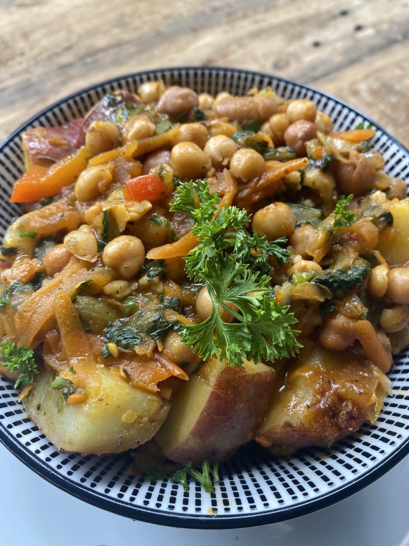 Delicious vegetarian options at Xavier Maboneng