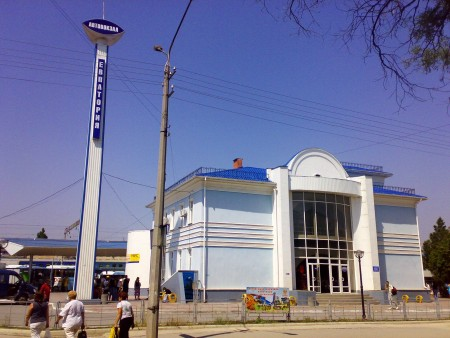Arriving in Yevpatoriya by bus