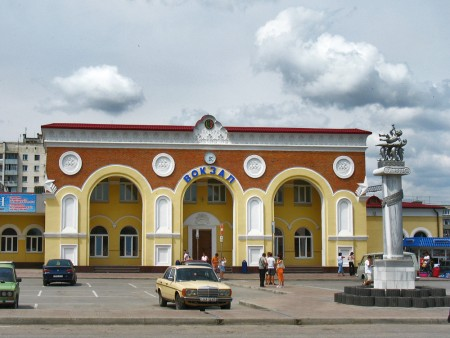 Arriving in Yevpatoriya by train